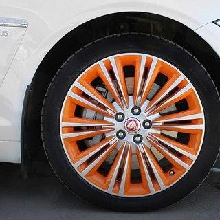 Покраска дисков ЯГУАР FX в два цвета